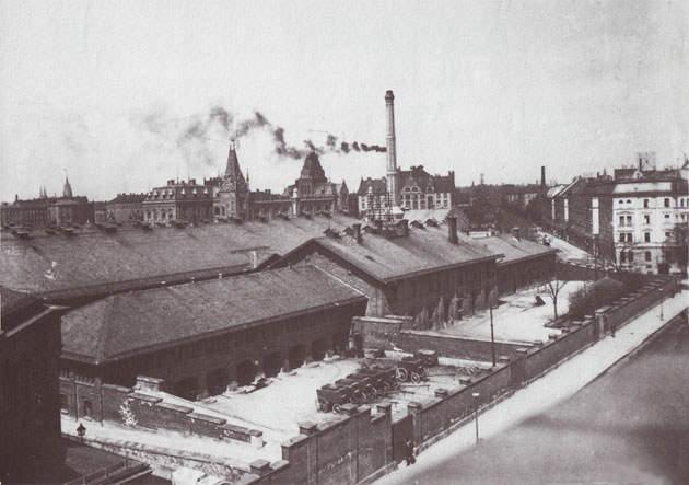 Schlachthof um 1878