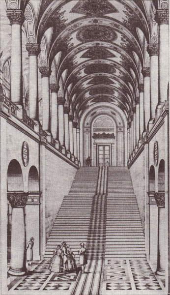Bayerische Staatsbibliothek Treppenaufgang