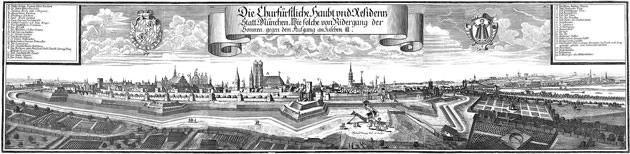 Stadtansicht München von Westen