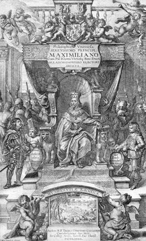 Kurfürst Maximilian I. auf dem Thron