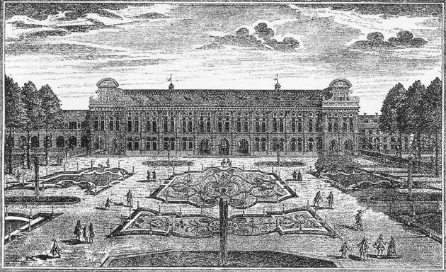 Ansicht der Residenz von der   Hofgartenseite