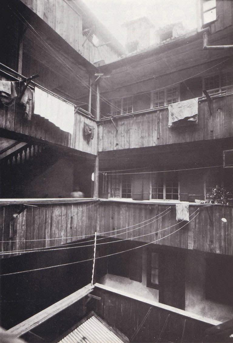 Innenhof eines   Bürgerhauses im Altheimer Eck