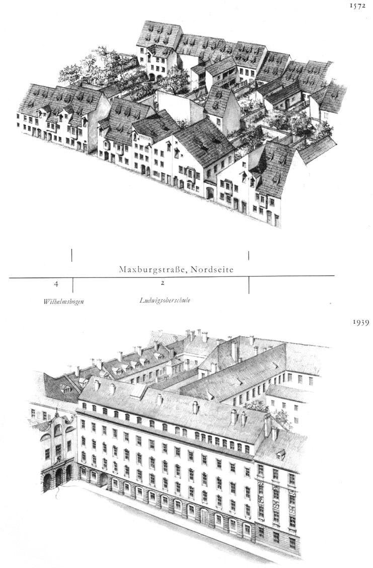 Maxburgstraße, Nordseite