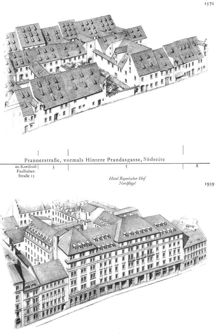 Prannerstraße, Südseite