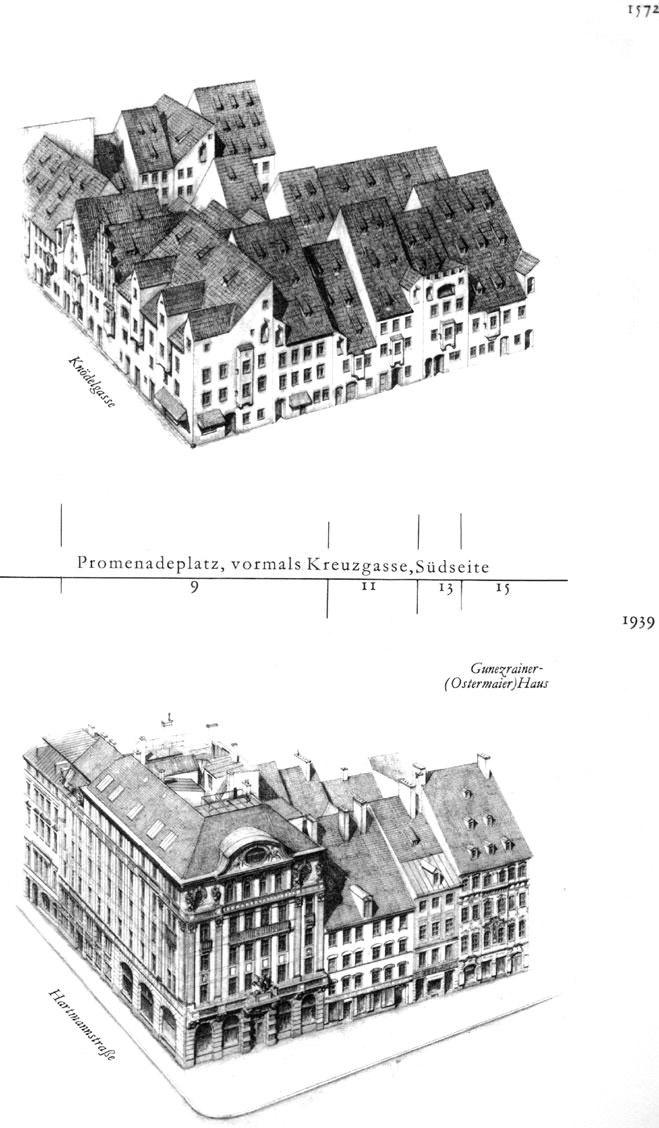 Promenadeplatz, Südseite