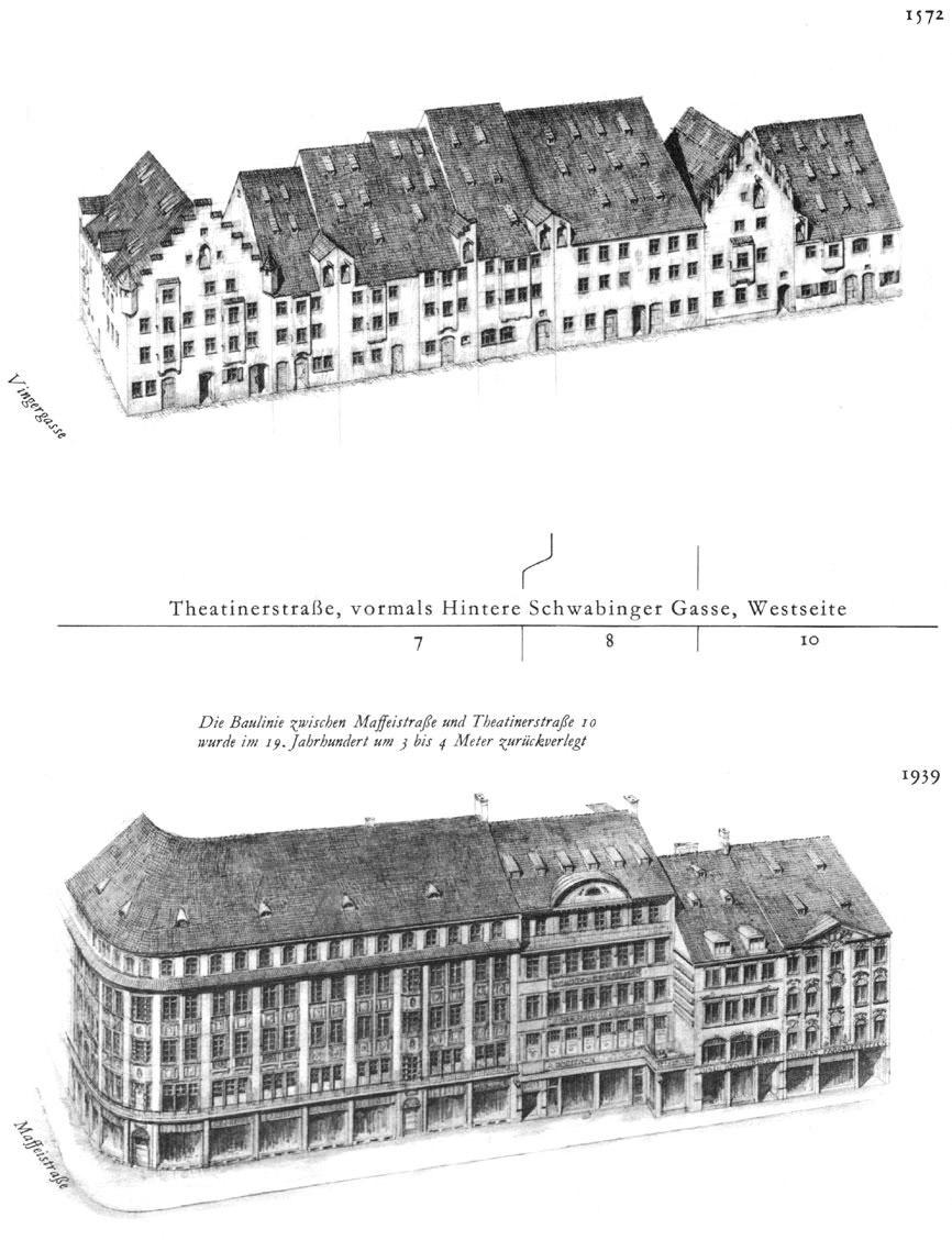 Theatinerstraße, Westseite