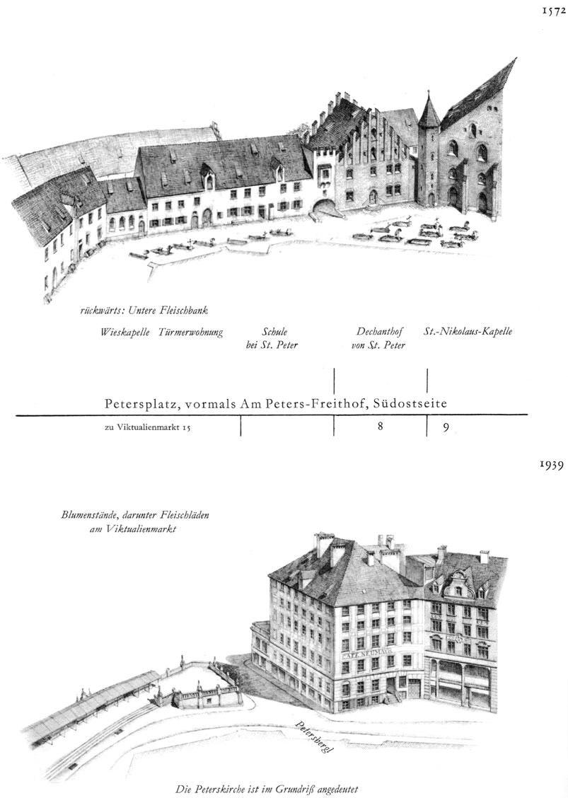 Petersplatz, Südostseite