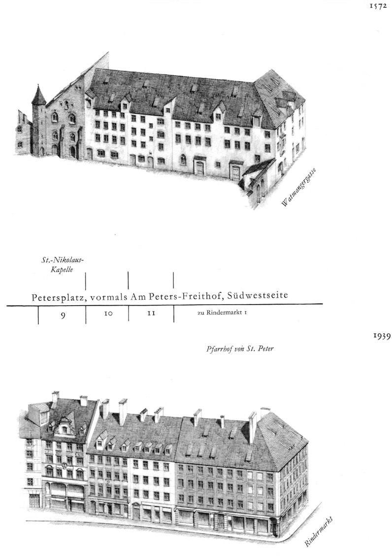 Petersplatz, Südwestseite