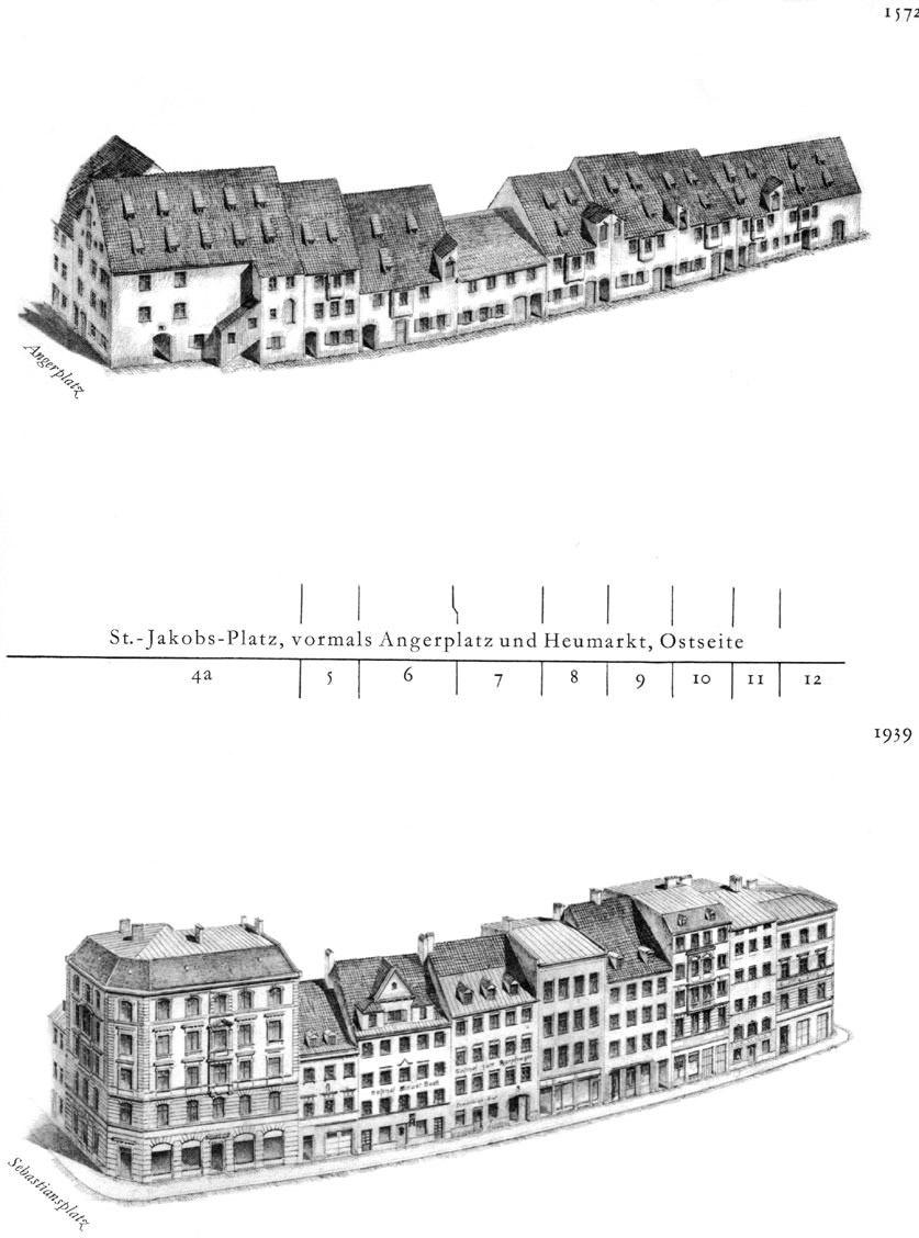 St. Jakos-Platz, Ostseite