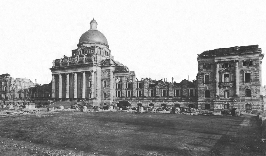 Zerstörtes Armeemuseum