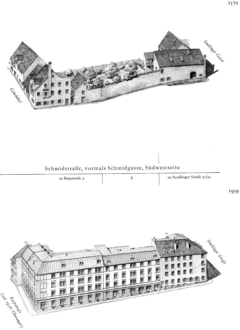 Schmidstraße, Südwestseite
