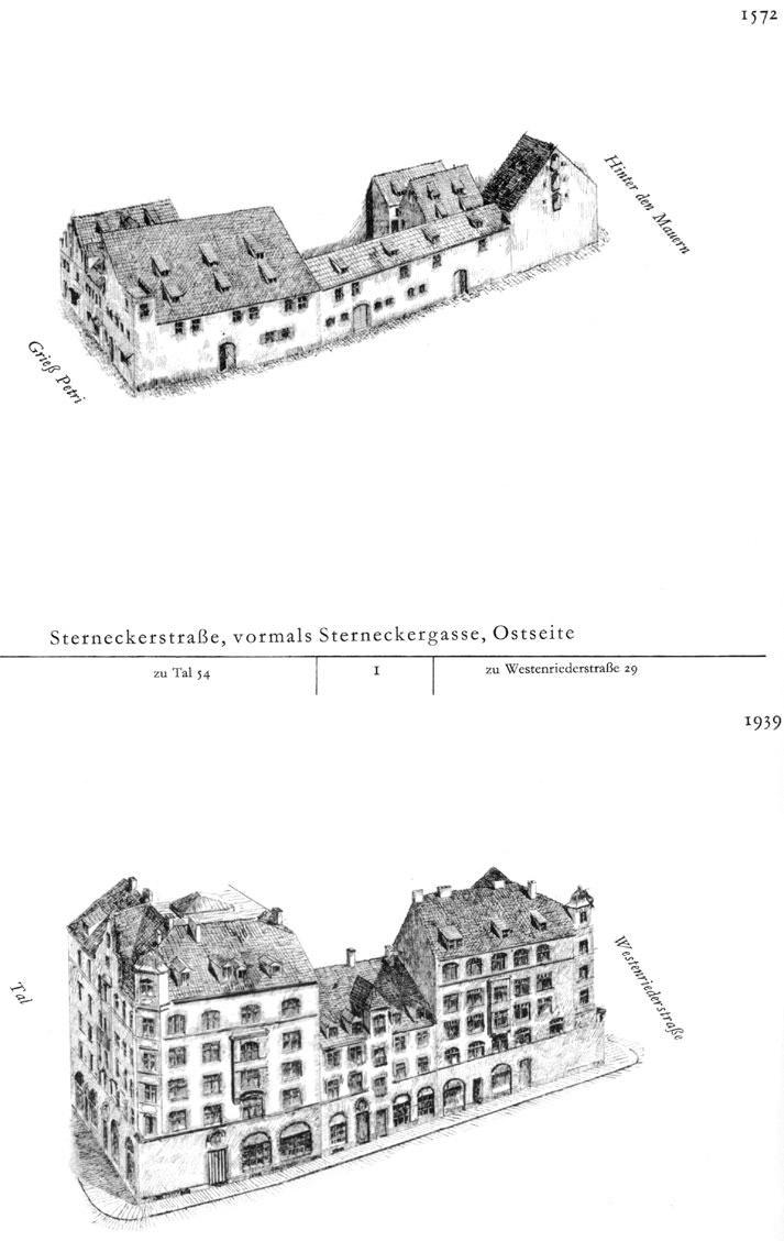 Sterneckerstraße, Ostseite