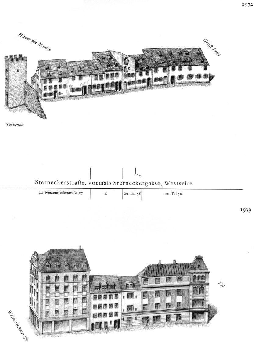 Sterneckerstraße, Westseite
