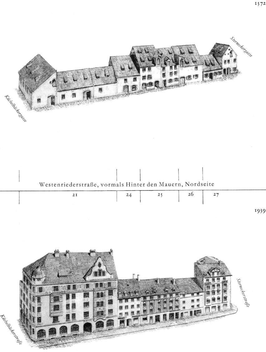 Westenriederstraße, Nordseite