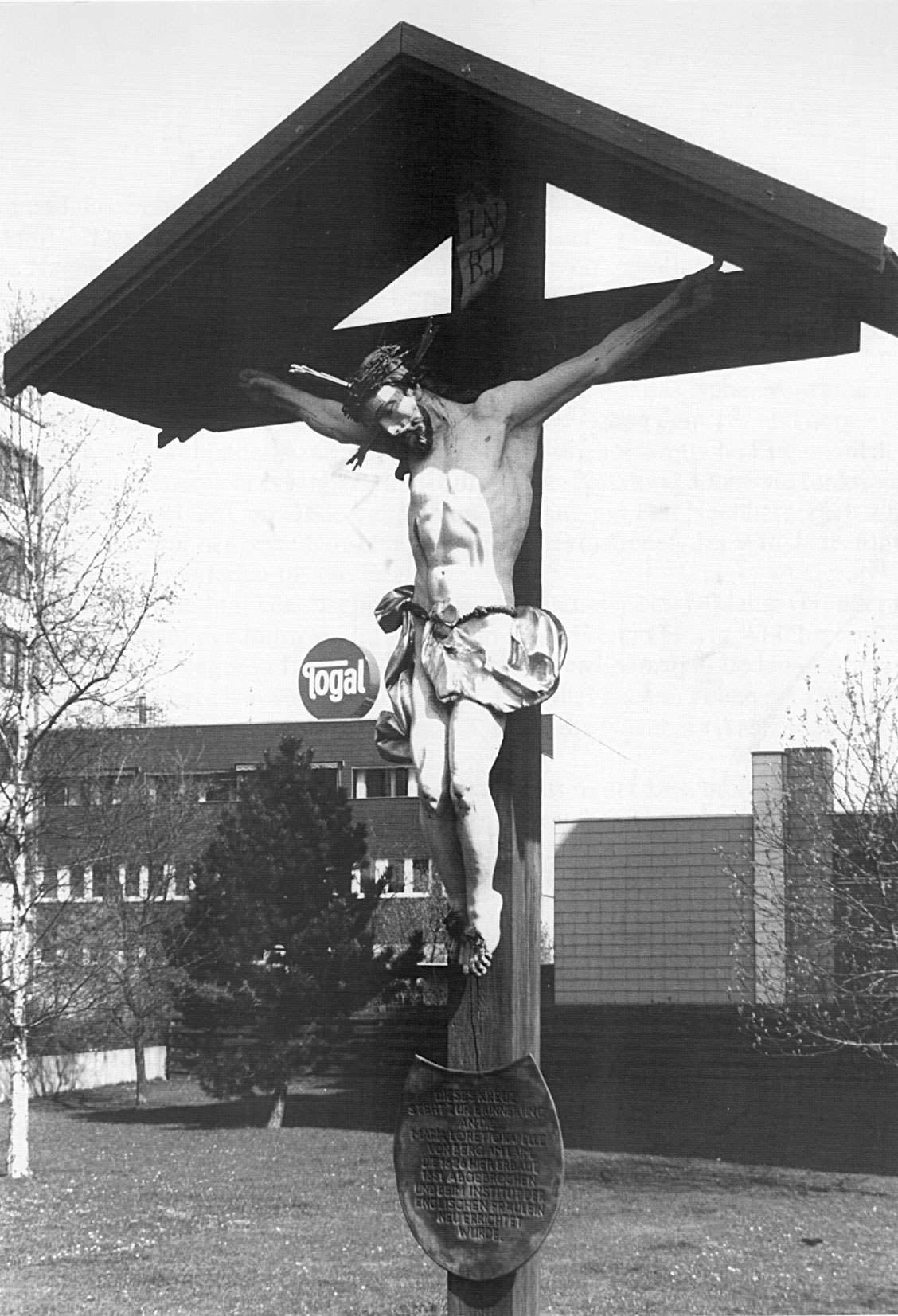 Erinnerungskreuz an die Maria- Loretto Kapelle