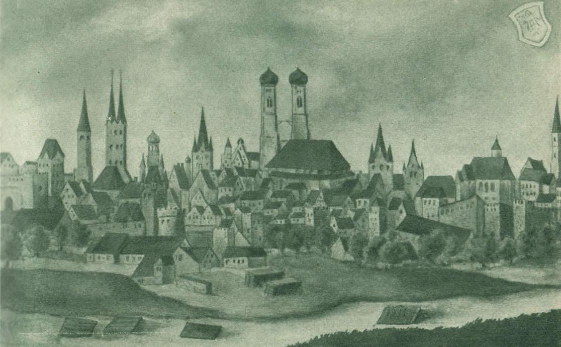 Stadtansicht aus dem   Mittelalter