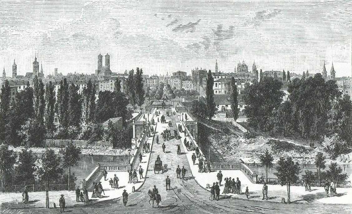 Maximiliansbrücke und Maximilianstraße