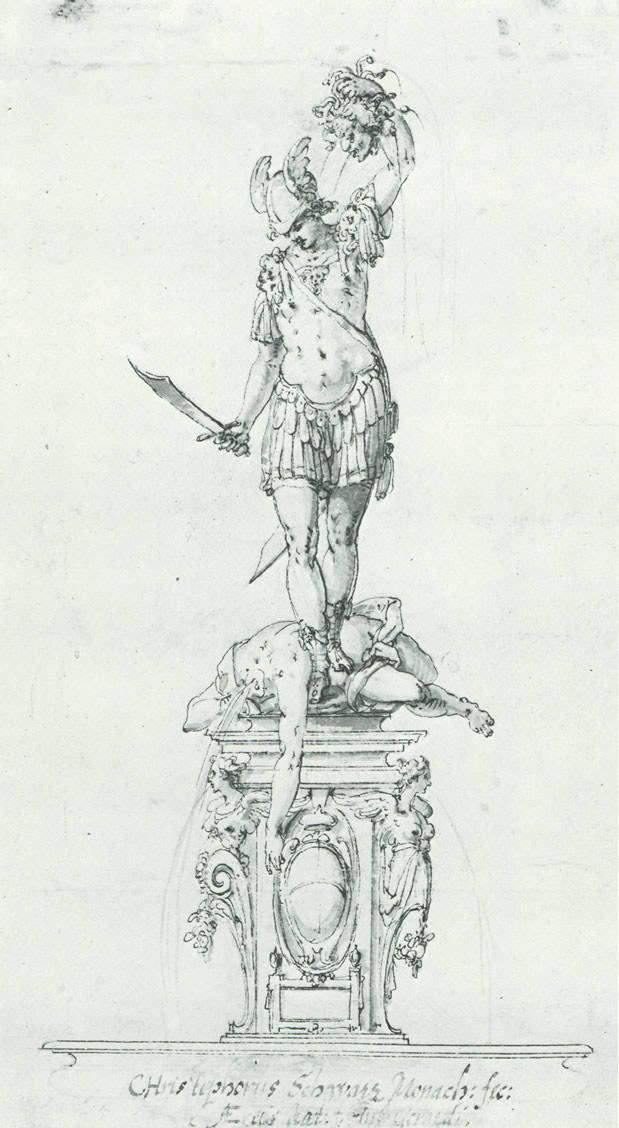 Entwurf Perseusbrunnen
