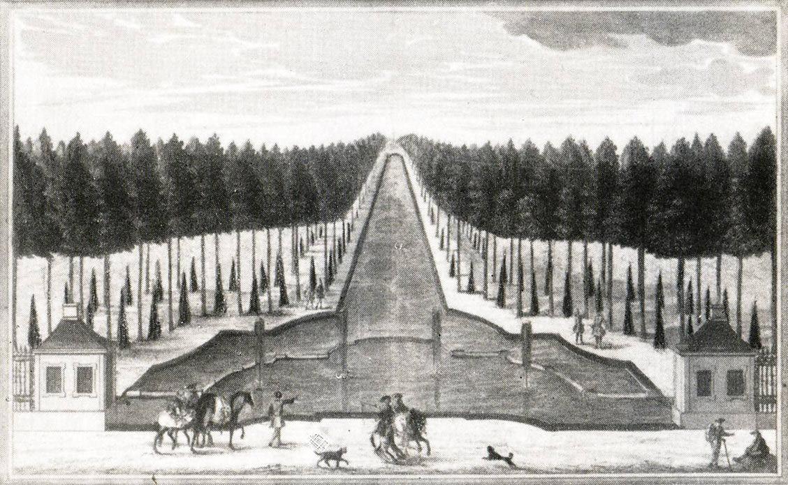 Blick von Nymphenburg nach Schloss Suresnes