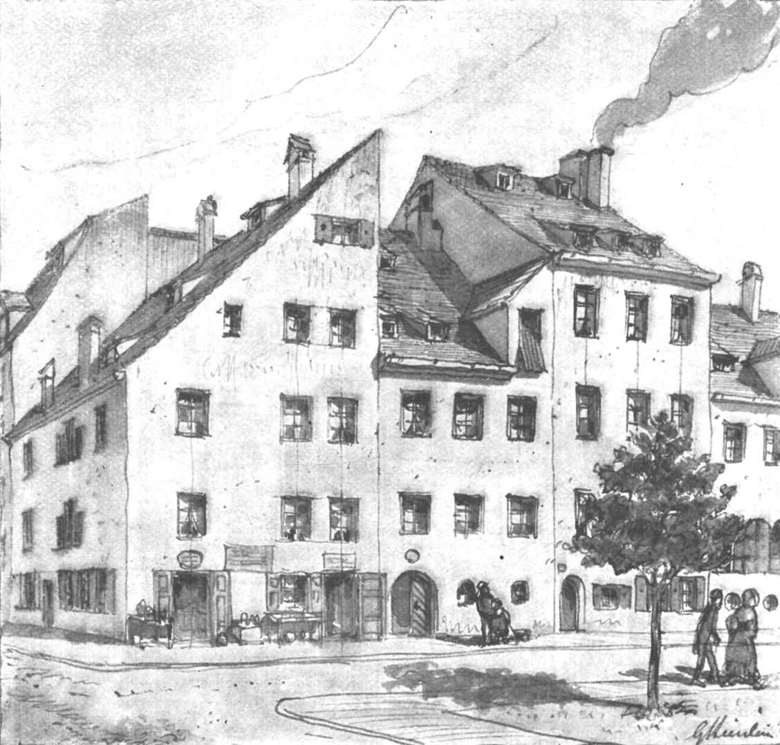 Häusergruppe Ecke Schmid- und Raspstraße