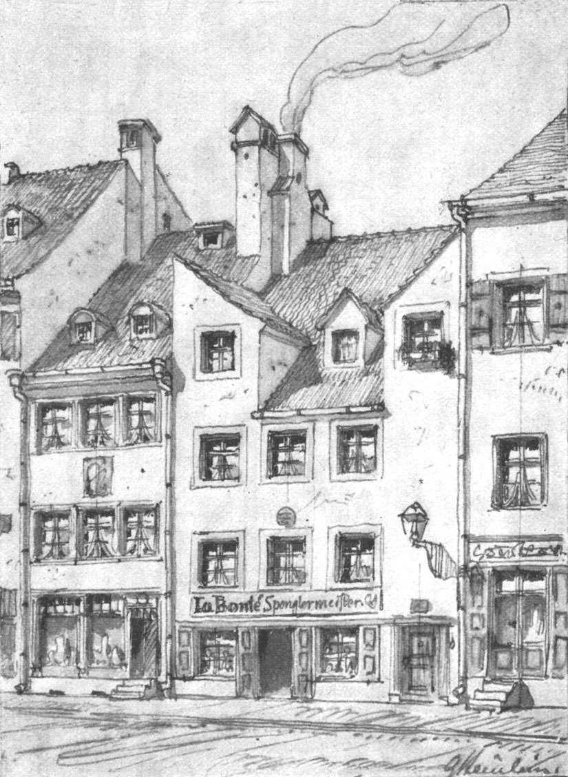Häusergruppe in der Kreuzstraße