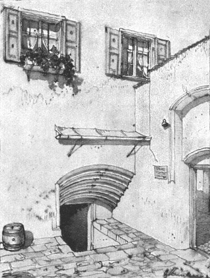 Kellertreppe beim   Haus in der Burgstraße 11