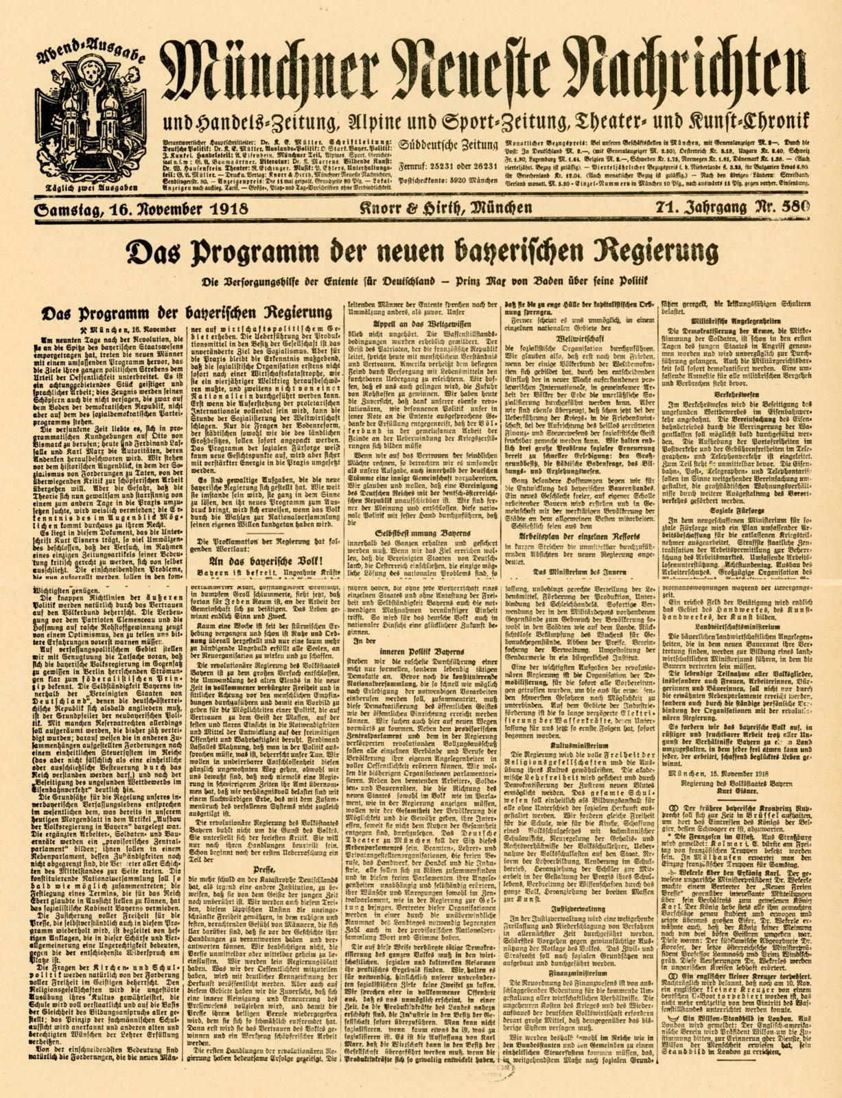 Das Programm der neuen bayerischen Regierung