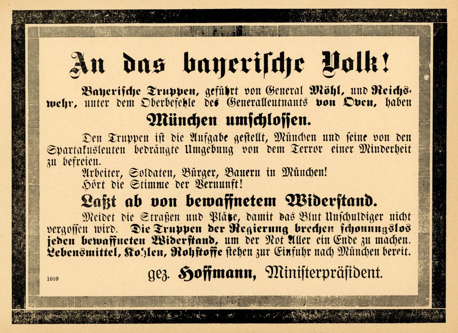 An das bayerische Volk