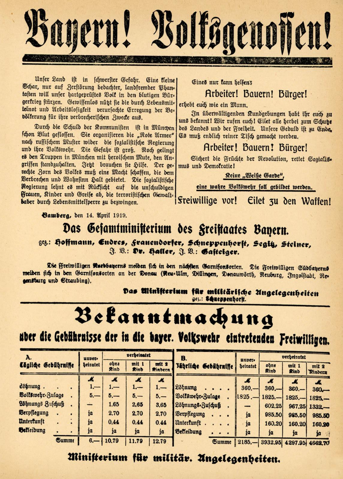 Bayern! Volksgenossen!