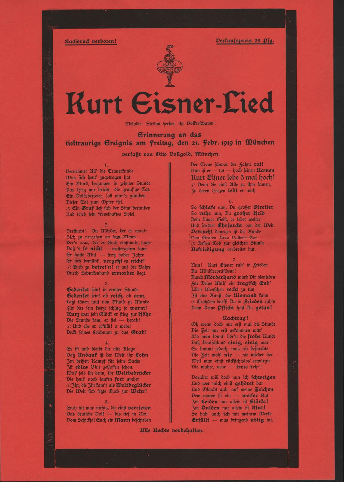 Das Kurt Eisner Lied